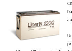 C&D Liberty 1000 Battery